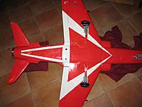 Name: BAe Hawk Red Arrows - underside, LR.jpg Views: 611 Size: 52.1 KB Description: The famous Red Arrow.  Hobby King retracts fitted well and worked perfectly.