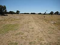 Name: Paterson Rd field - Runway 02, LR.jpg Views: 152 Size: 88.6 KB Description: My first mowing effort.  200 yards of runway!  The Hawk will probably need most of this on landing.