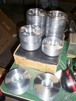 Name: DCP02888.jpg Views: 181 Size: 87.6 KB Description: CNC lathe turned blanks in front, finished parts in back
