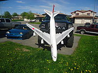 Name: DSC04171.jpg Views: 248 Size: 303.7 KB Description: Size of truck to 747 plane, it will not fit even in the bed of the truck its just to big!