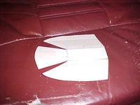 Name: P40 Pics 012.jpg Views: 1733 Size: 56.2 KB Description: Cut cardboard pattern to match fuselage