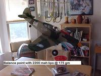 Name: P-40 CG 175 gm 012.jpg Views: 1367 Size: 64.0 KB Description: 2100 mah and 175 gms