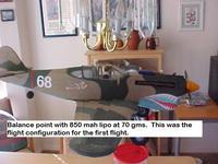 Name: P-40 CG 850 mah.jpg Views: 1397 Size: 57.1 KB Description: 850 mah @ 70 gm