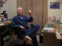Name: Cheers !!.jpg Views: 182 Size: 91.6 KB Description: Blue plaid jammies and sheep skin slippers from N.Z.