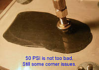Name: 50 PSI not bad.jpg Views: 539 Size: 79.3 KB Description: At 50 PSI the voids got better and maybe just more pressure would do it.  I wonder what 90 PSI would look like?  I probably will not get to that too soon.