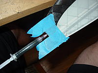 Name: DSC06397.jpg Views: 196 Size: 130.6 KB Description: Use a needle to inject the epoxy. Use a backlight to view where the epoxy is going