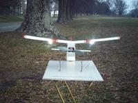 """Name: Blu Baby With Landing Lights.jpg Views: 504 Size: 58.0 KB Description: BB#1 33"""" UC wing with Landing Lights installed"""