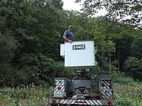 Name: 20180912_102400.jpg Views: 49 Size: 1.03 MB Description: Arnold in the bucket truck just before I climbed in