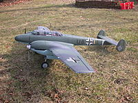 """Name: BF-110(1).JPG Views: 13 Size: 1.09 MB Description: All painted with more closely represented colors of a BF-110C of the BoB.  The descriptor below states a """"solid"""" top color (probably RLM 71 Dunkelgrun), so I may go back and do that again.  I did the paint before I decided on the particular airc"""