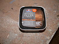 """Name: wood fliller dont buy for foam.jpg Views: 200 Size: 268.7 KB Description: DO NOT buy this wood putty.  it sands like concrete!  I accidently bought this when I ran out of the """"normal"""" stuff.  gotta go back to home despot and see if I can find the """"normal"""" stuff."""