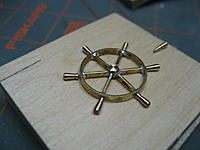 Name: 006.jpg Views: 100 Size: 83.5 KB Description: Here is a layout of the wheel.  I'm not sure yet how I will join the handles to the rim.  I know if I try to solder them I will have trouble.... I'm open to suggestions.