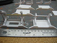 Name: 003.jpg Views: 106 Size: 106.7 KB Description: Side by side comparison between the cast part from MBH and my scratch built rack.  I have not checked the weights of the parts yet to see which is heavier.  Later today I'm going to start work on the linkage at last.