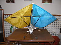 Name: autokite xp 001.jpg Views: 346 Size: 77.5 KB Description: this plane was a interesting thing to fly looked like and hang glider with a power fuse and tail it flew but not like any other plane i have flown kinda lazy quite and disscussion piece at the club field though