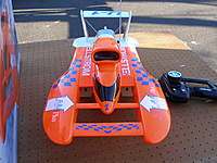 Name: garage sale items 018.jpg Views: 265 Size: 94.1 KB Description: i had this nitro powered rc hydro for awile only had it out a few times but when i did it performed great even though it was being run on a major river the columbia between oregon and washington in the pacific NW fun time but you need a real boat