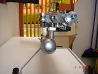 Name: DSC02841R.jpg Views: 75 Size: 59.3 KB Description: Asi quedó con el motor montado horizontal. El mofle sobresale un poco hacia la izquierda (de la foto)