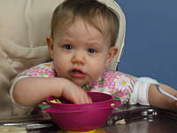 Name: Olivia March 2010 054.jpg Views: 153 Size: 46.8 KB Description: I can't believe they make me eat this slop!