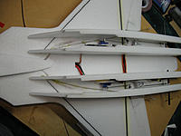 Name: IMG_0435.jpg Views: 433 Size: 117.1 KB Description: You can see how the rudder pushrods run from the cockpit, through the engine nacelles, and out to the rudders...