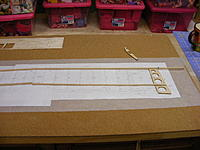 Name: 2012_0121N170008.jpg Views: 292 Size: 60.2 KB Description: Basswood spars.  They do not come with the kit.  You can buy some premade, 1/8x1/4 or make your own like I did.  Ripped some on my table saw.