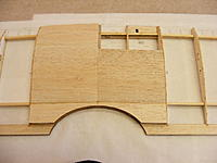 Name: 2012_0121N170039.jpg Views: 238 Size: 51.7 KB Description: 2nd piece.  Since I am an old time scratch builder and I never through anything away, I have more than enough scrap balsa to finish out this airplane.  The sheet pieces being no exception.  I grabbed pieces out of my leftover box and cobbled it together.