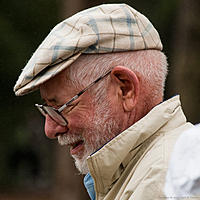 "Name: 2012-08-05_051.jpg Views: 51 Size: 299.9 KB Description: The ""Frank G. McGuire's"" builder/skipper keeps a sharp eye on his helm."