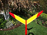 Name: Big pic file from iPhone 822.jpg Views: 138 Size: 318.0 KB Description: The red fuse and yellow tails and wings add to orientation.