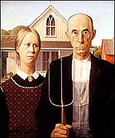 """Name: American Gothic.jpg Views: 67 Size: 15.1 KB Description: Can you tell which is a famous painting titled """"American Gothic"""" and which is a picture? Exhibit A"""