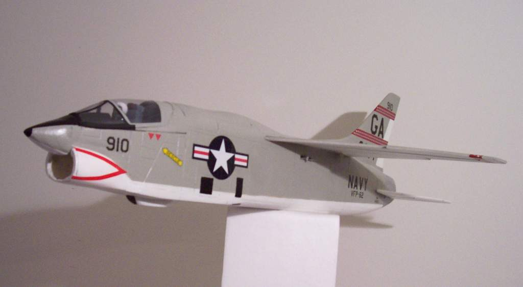 """Name: RF-8A 6871 decals4.jpg Views: 1,386 Size: 24.4 KB Description: RF-8A VFP-62 number 910 by Mike Dudley (""""Cuban Missile Crisis Detective"""") 1st decals applied"""