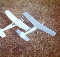 """Name: envoy and skylane 2.jpg Views: 124 Size: 198.6 KB Description: 40"""" span Envoy and 42"""" span Carl Goldberg Cessna Skylane.  Envoy is finished in doped tissue with luminium powder in the clear nitrate dope"""