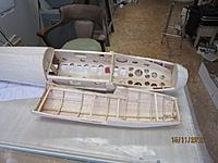"""Name: fittedhatch4.jpg Views: 138 Size: 118.9 KB Description: Inside of hatch with formers cleared out (left 1/4"""") and cross braces to hold width to shape.  Weight of hatch 2.8 oz."""