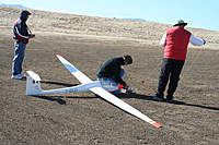 Name: IMG_3990.jpg Views: 191 Size: 126.9 KB Description: Bruce helping to hook up the sailplane