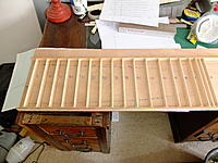 Name: DSCF8078.jpg Views: 146 Size: 839.4 KB Description: Balsa strips glued down to plywood base, with appropriate sized slots for the formers, which are 2.4mm.