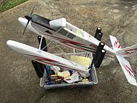 Name: image.jpg Views: 217 Size: 1.21 MB Description: Completed floats and stooge that fits the Apprentice but not the Timber!  The uprights can be removed from berical tubes and replaced with wider uprights.