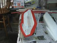 Name: 071218 009.jpg Views: 322 Size: 75.9 KB Description: The left half trimmed with a razor knife after the the epoxy has partially cured, much easier and neater than letting it completely dry and having to use a saw or cutting wheel.
