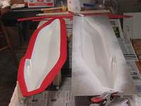"""Name: 071218 012.jpg Views: 332 Size: 62.0 KB Description: Both halves painted with automotive touch up spray paint, but I think any spray paint that says """"re-coat anytime"""" will work. I think I'll try Krylon Interior Exterior spray paint on the wings."""