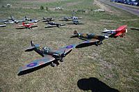 Name: Warbirds Over LOS-10.jpg Views: 26 Size: 977.6 KB Description: The three models voted as best of the day by the club members. Mike's Fokker DVII took the first prize.