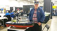 "Name: 2-23-2019 Exxon Tug- BobP-Hat-Jacket 02.jpg Views: 1 Size: 1.05 MB Description: Model""Exxon Empire State"" built by Walter Pommnitz of New Jersey 20 years ago."