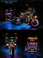 """Name: NeonsTriPics.jpg Views: 153 Size: 280.5 KB Description: This was the last Millenium show I did then the sign was changed to """"Cruisln' 50's"""" Much more added then. Last show was in 2003 in - AMERICADE -  Lake George, NY"""