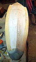 Name: 3-8-12 Anti-Spray Strakes (1).jpg Views: 203 Size: 55.4 KB Description: Glued down balsa 1 inch wide flat spray strakes in place with CA and polyurethane glues. Sanded and spackled. It has a nice shallow turndown.
