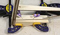 Name: 192-rudder base blocks glued.jpg Views: 370 Size: 279.4 KB Description: Light balsa rudder base blocking