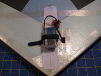 """Name: IMG_0258.jpg Views: 2196 Size: 72.4 KB Description: 600mAh 3S Lipo in position to obtain 8.5"""" CG from nose of wing."""