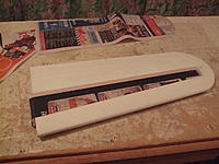 Name: DSCF3398.jpg Views: 168 Size: 182.9 KB Description: the strip section glued on where the spar would be