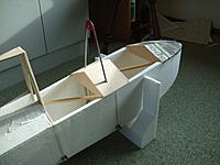 Name: DSCF8034.jpg Views: 148 Size: 186.6 KB Description: the two cockpits areas,with the nose  top paper covering on.