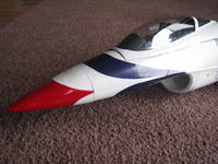 Name: IMG_1077.jpg Views: 405 Size: 105.9 KB Description: Nose decals. Nose cone template was used to paint the cone.