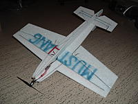 """Name: DSCF1734.jpg Views: 105 Size: 135.2 KB Description: spar on wing and elevator is .010"""" cf. lately added 1.7mm cf square tubing under as when flying outdoors wing flexed."""