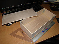 Name: DSC04191.jpg Views: 89 Size: 156.4 KB Description: Basic box built up from light 5MM compound. 32CM * 15CM * 8CM tall.