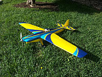 """Name: 7215655038_260b80ff3a_k.jpg Views: 86 Size: 318.0 KB Description: An E-flite Shoestring - racing setup, about $500. This is a spec racer, in the """"beginner"""" class."""