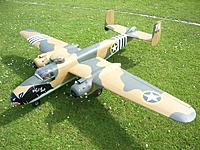 """Name: B-25july11b.JPG Views: 1 Size: 118.8 KB Description: 93"""" span, 26 years old and still flying occasionally."""