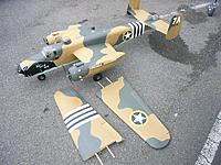 Name: B-25july12 (2).jpg Views: 317 Size: 123.8 KB Description: Wing outer panels removed.
