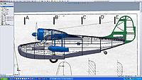 Name: Grumman Goose frame 1 over 3view.jpg Views: 1782 Size: 192.3 KB Description: Sticking with the stick and tissue format for a quick and light build