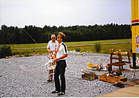 Name: Steve and Frank Redstone Demo post Qualification.jpg Views: 59 Size: 489.3 KB Description: Frank Goodwin, Tech Serv co-founder and President. We are flying from one of the Redstone Arsenal Test sites, Steve on the sticks. This was during one of the critical range tests. The radios had to work reliably out to 3 clicks.